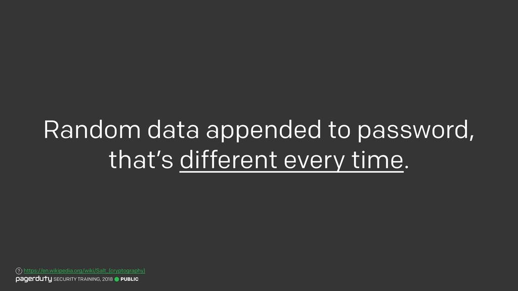 PUBLIC SECURITY TRAINING, 2018 Random data appe...