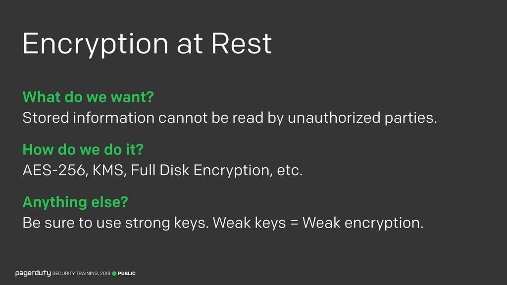 Encryption at Rest PUBLIC SECURITY TRAINING, 20...