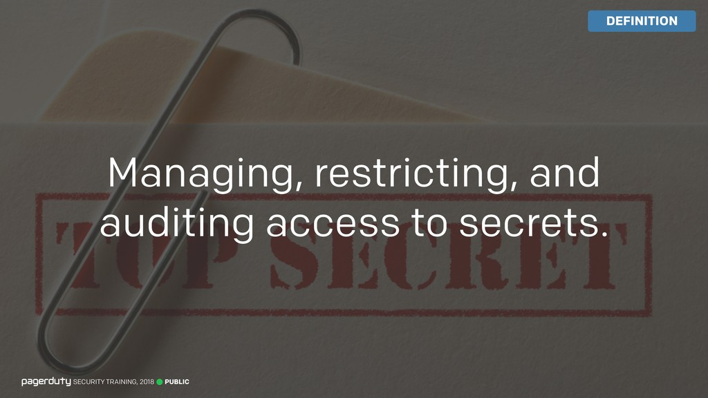Managing, restricting, and auditing access to s...