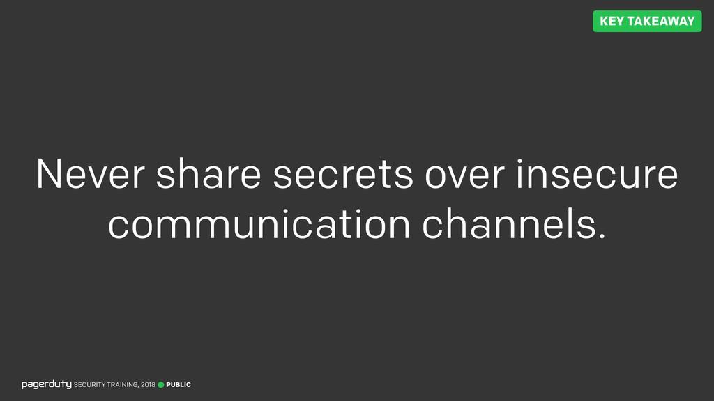 PUBLIC SECURITY TRAINING, 2018 Never share secr...