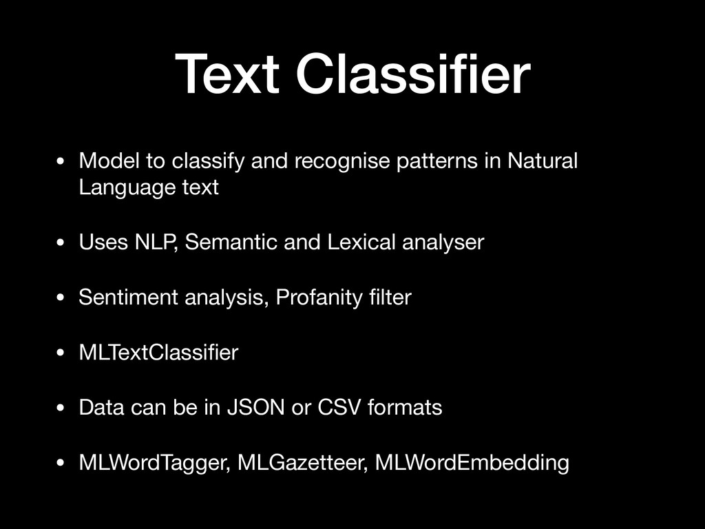 Text Classifier • Model to classify and recognis...