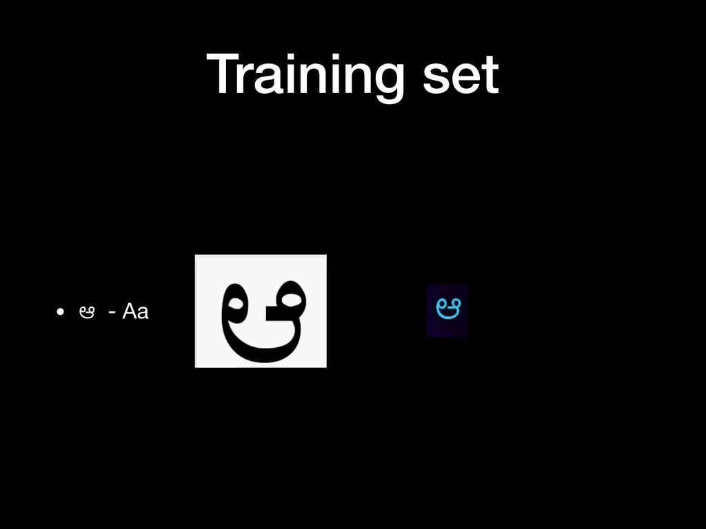 Training set • ಆ - Aa