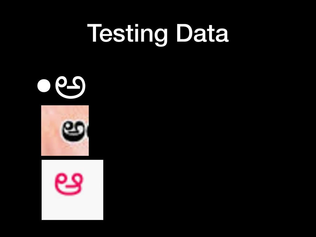 Testing Data •ಅ