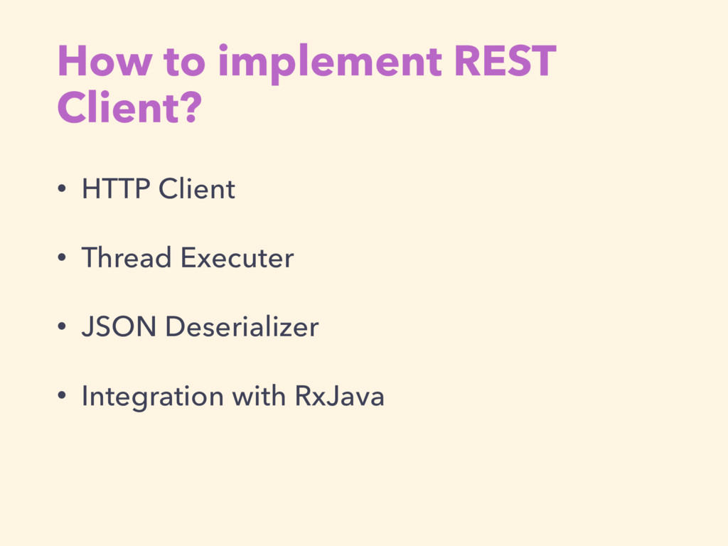 How to implement REST Client? • HTTP Client • T...