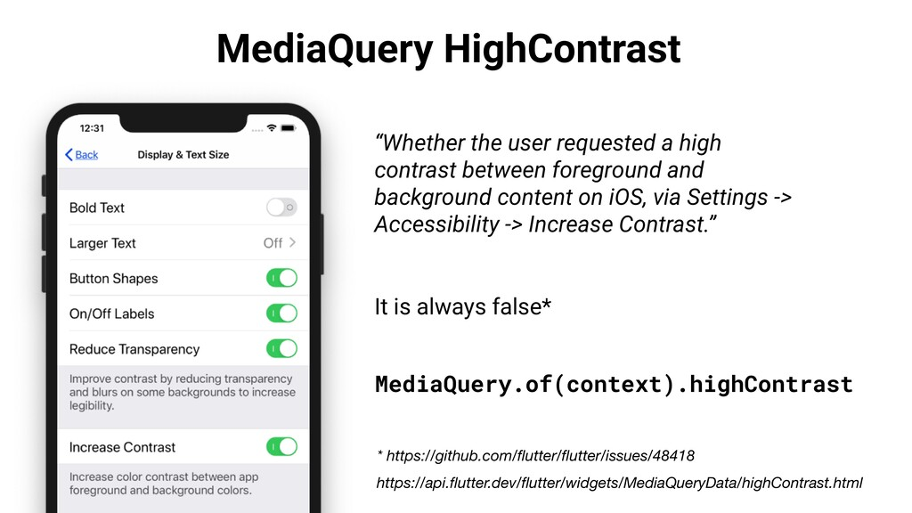 """MediaQuery HighContrast """"Whether the user reque..."""