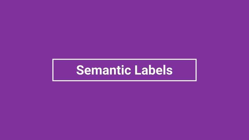 Semantic Labels