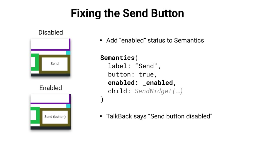 """Fixing the Send Button • Add """"enabled"""" status t..."""