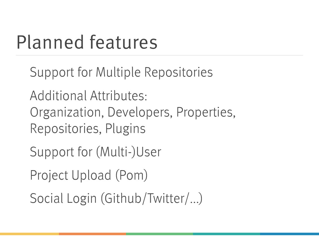 Planned features Support for Multiple Repositor...