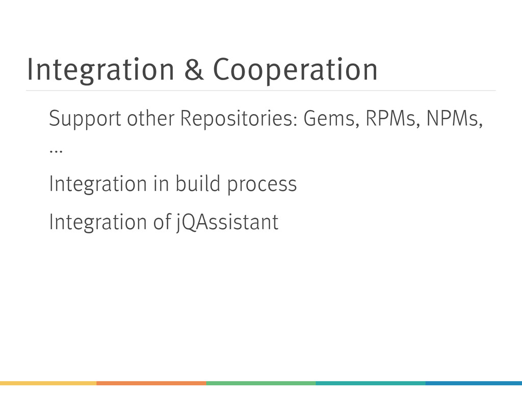 Integration & Cooperation Support other Reposit...