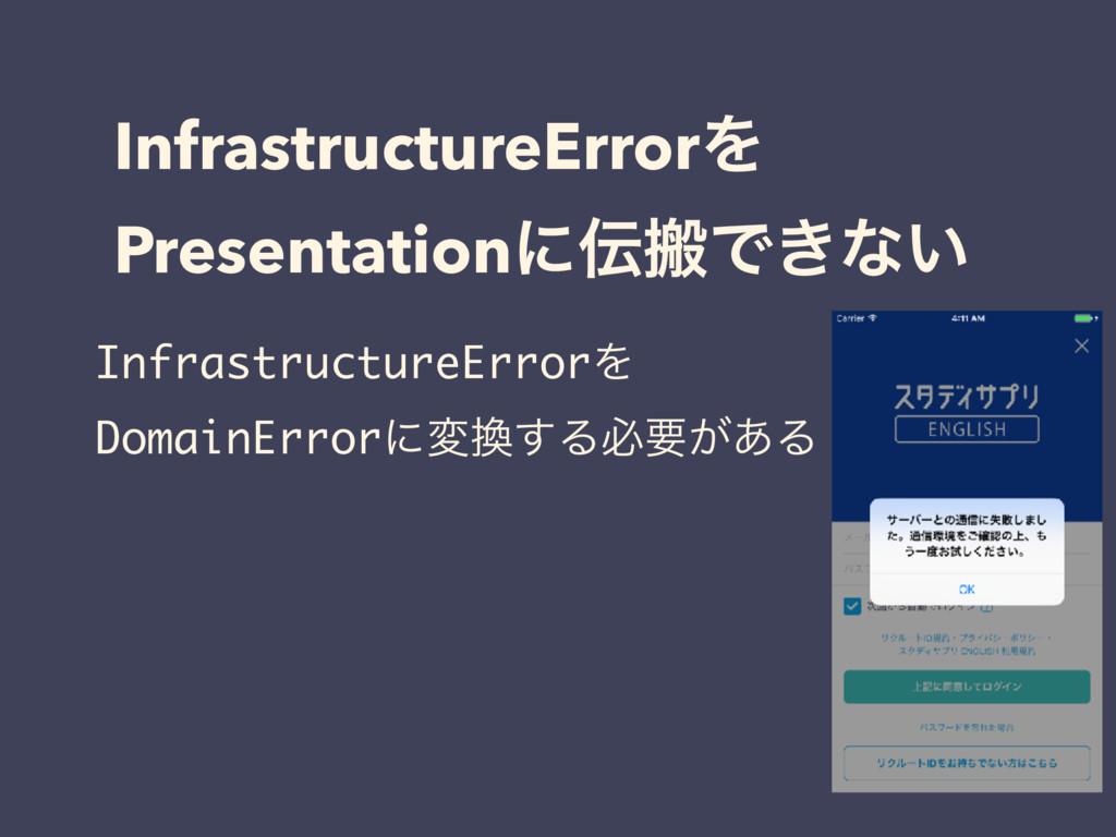 InfrastructureErrorΛ PresentationʹൖͰ͖ͳ͍ Infras...