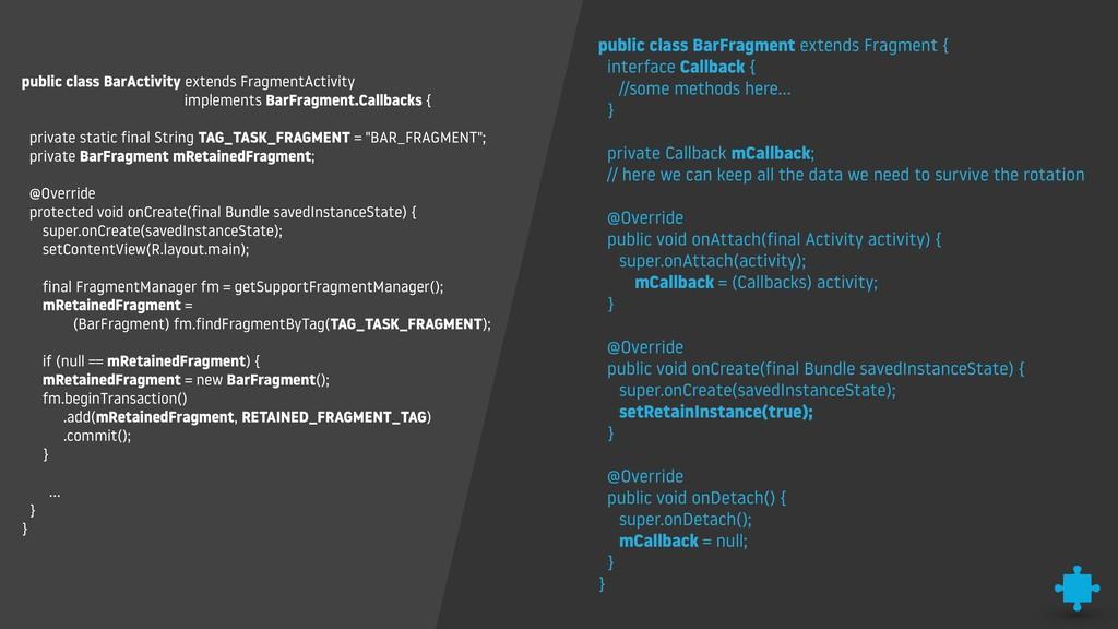 public class BarActivity extends FragmentActivi...