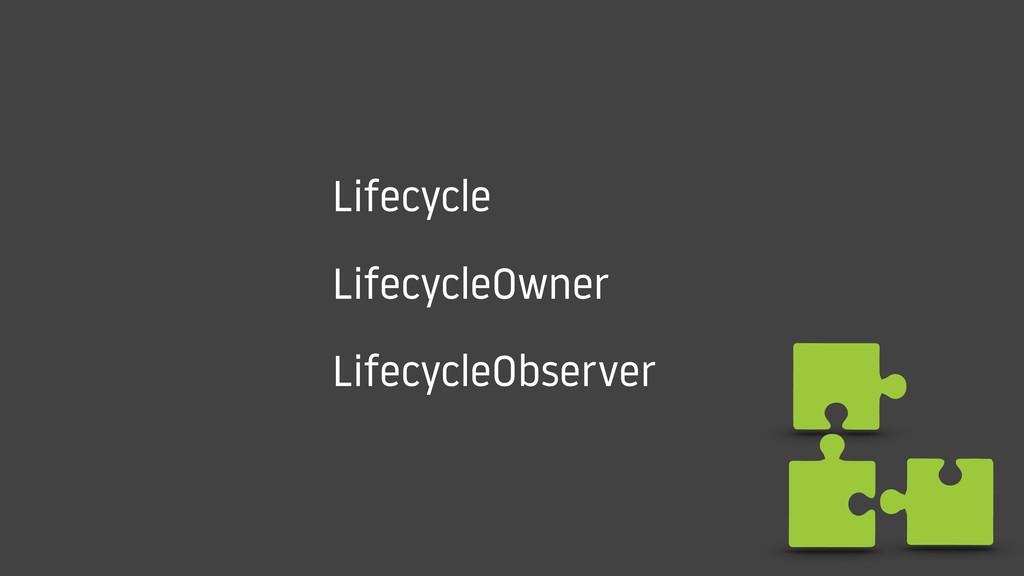 Lifecycle LifecycleOwner LifecycleObserver
