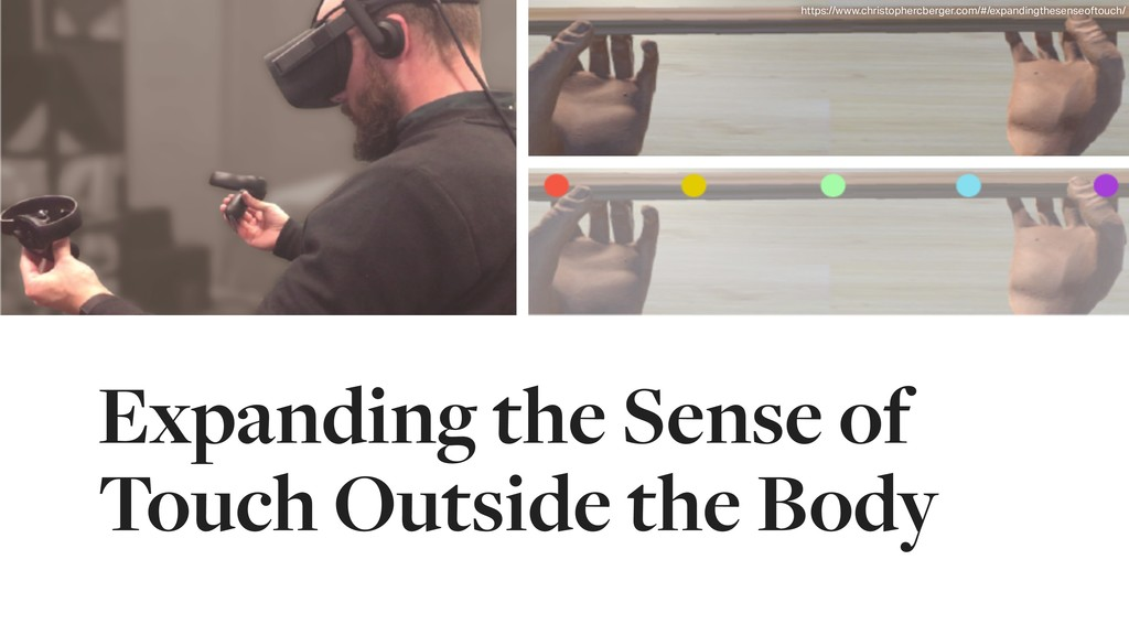 Expanding the Sense of Touch Outside the Body h...