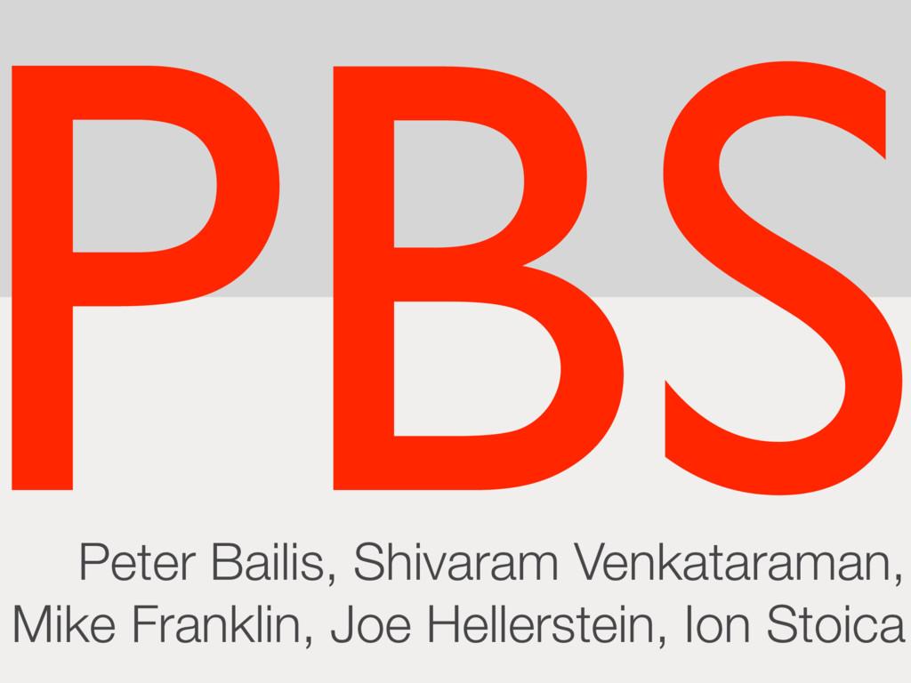 Peter Bailis, Shivaram Venkataraman, Mike Frank...