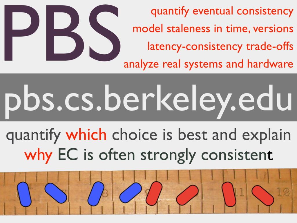 quantify eventual consistency model staleness i...