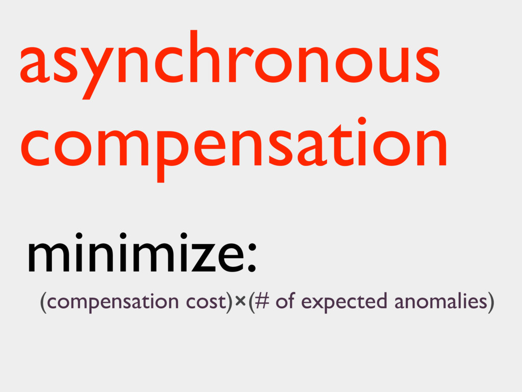 minimize: (compensation cost)×(# of expected an...