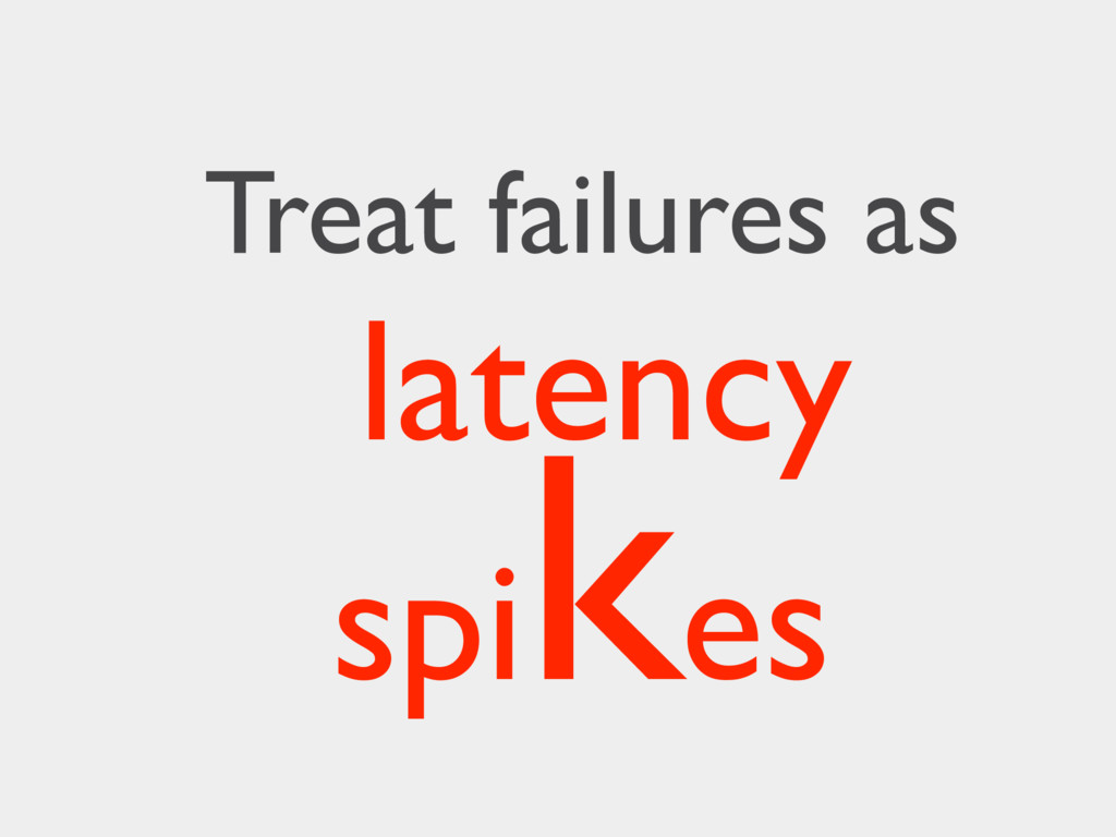 latency spi kes Treat failures as