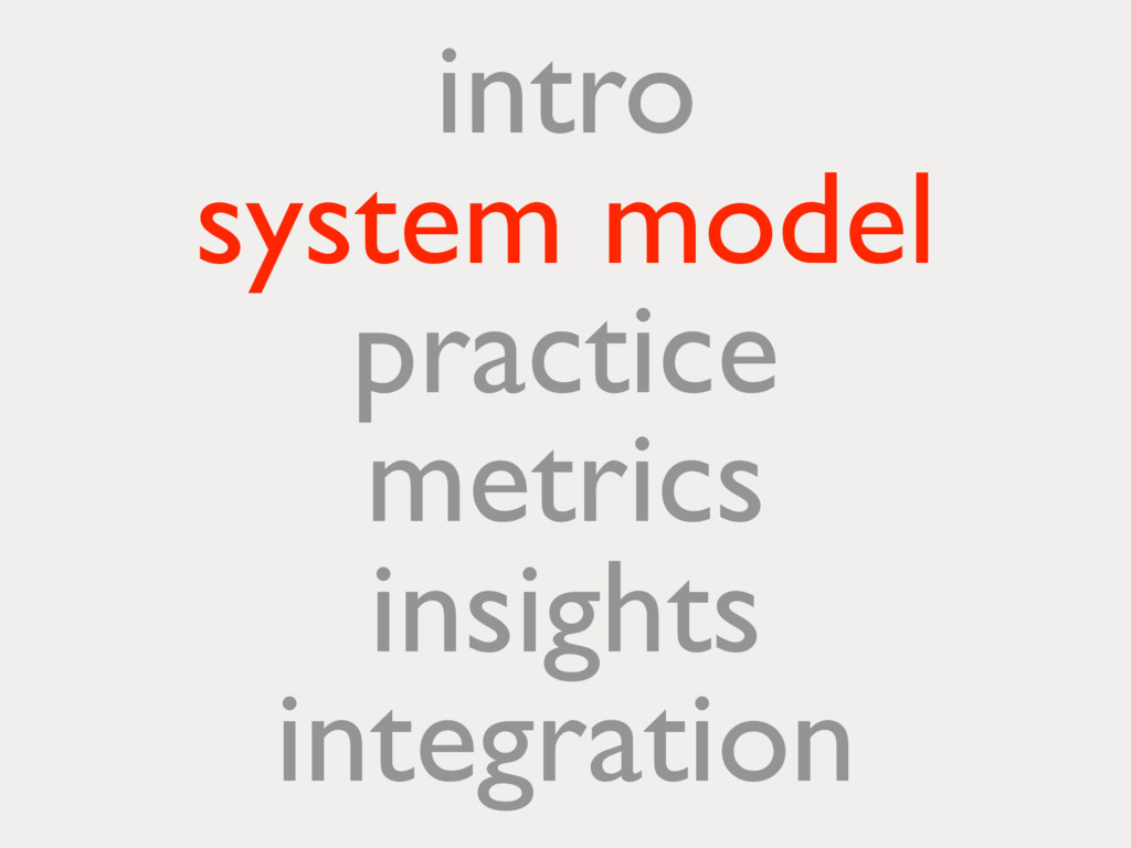 intro system model practice metrics insights in...