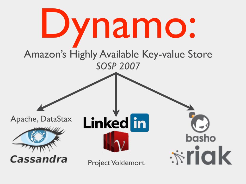 Apache, DataStax Project Voldemort Dynamo: Amaz...