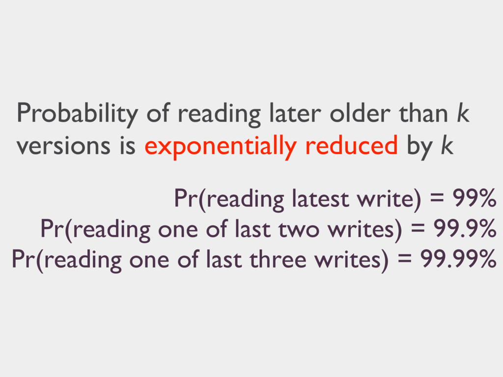 Probability of reading later older than k versi...