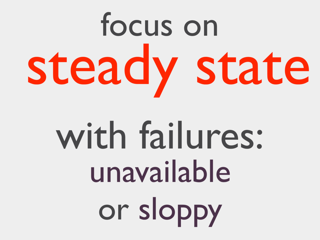 focus on with failures: steady state unavailabl...