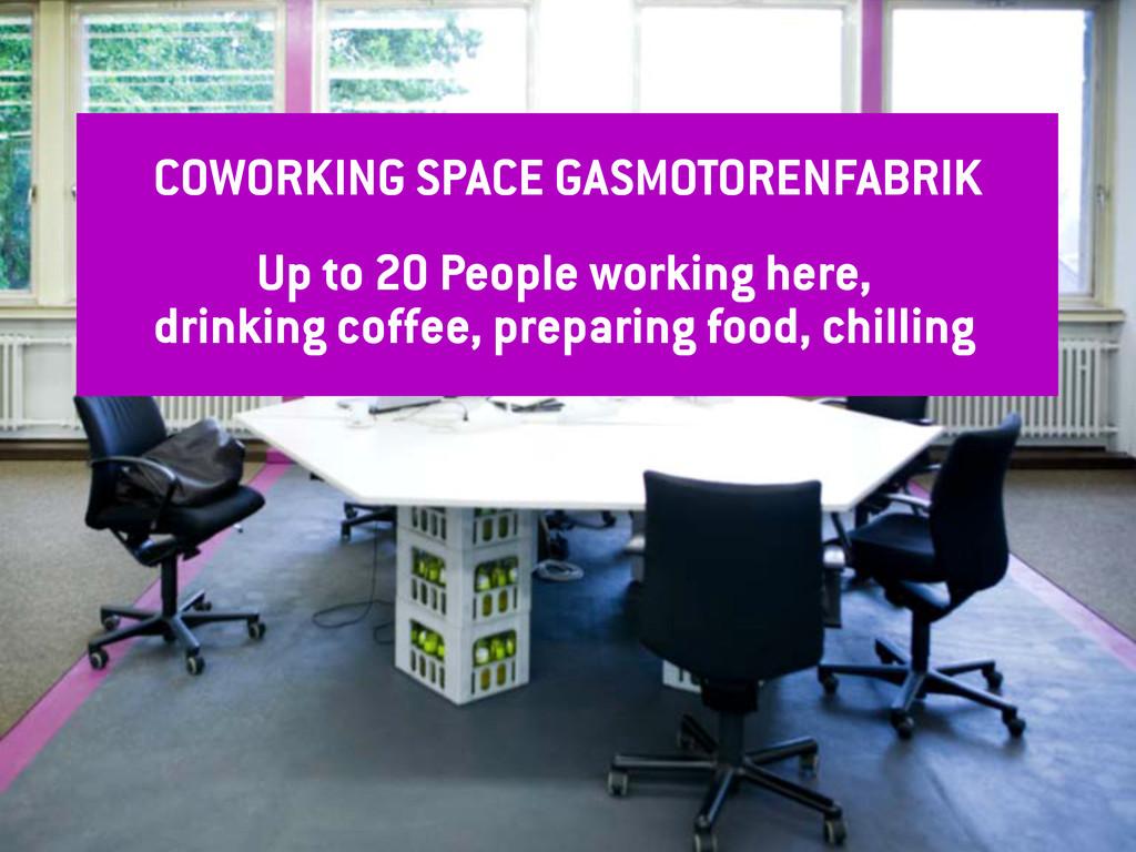 t COWORKING SPACE GASMOTORENFABRIK Up to 20 Peo...