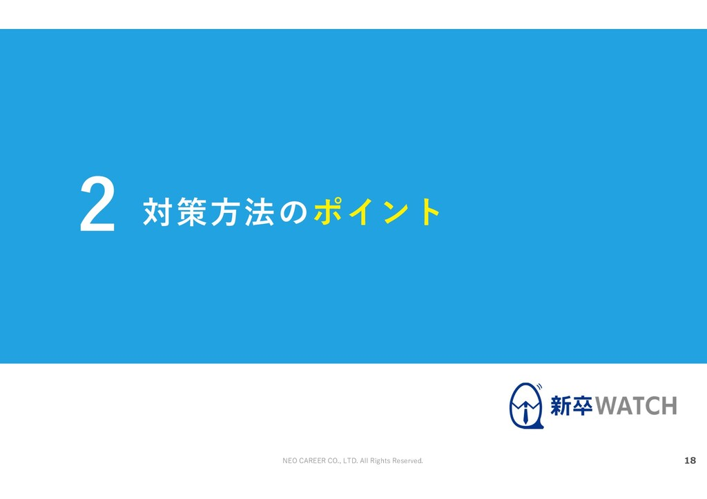NEO CAREER CO., LTD. All Rights Reserved. 対策方法の...