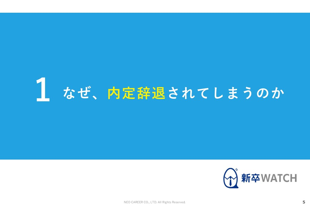 NEO CAREER CO., LTD. All Rights Reserved. なぜ、内定...
