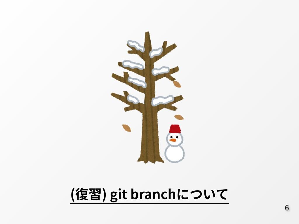 6 (復習) git branchについて
