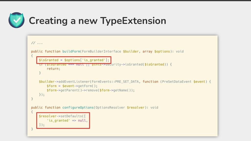 Creating a new TypeExtension