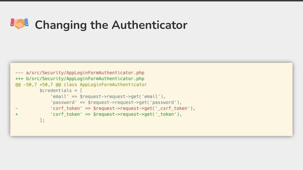 Changing the Authenticator