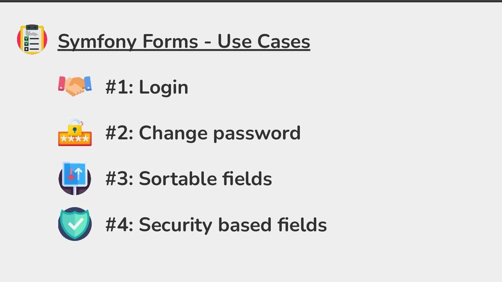 Symfony Forms - Use Cases #1: Login #2: Change ...