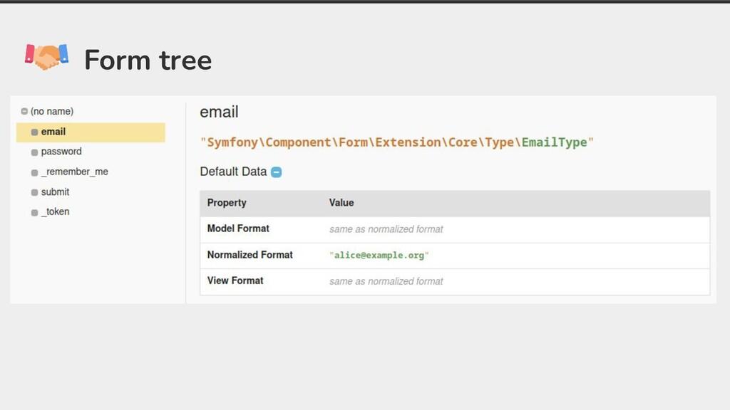 Form tree
