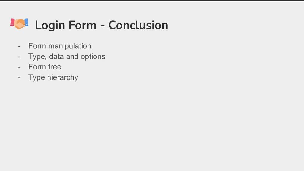 Login Form - Conclusion - Form manipulation - T...
