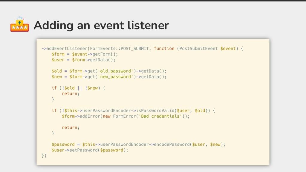Adding an event listener