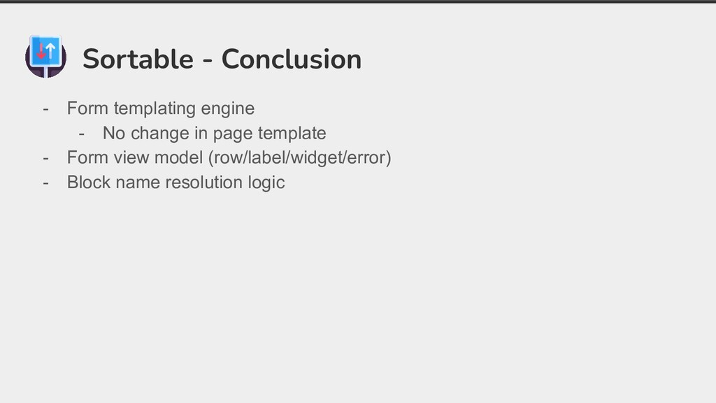 Sortable - Conclusion - Form templating engine ...