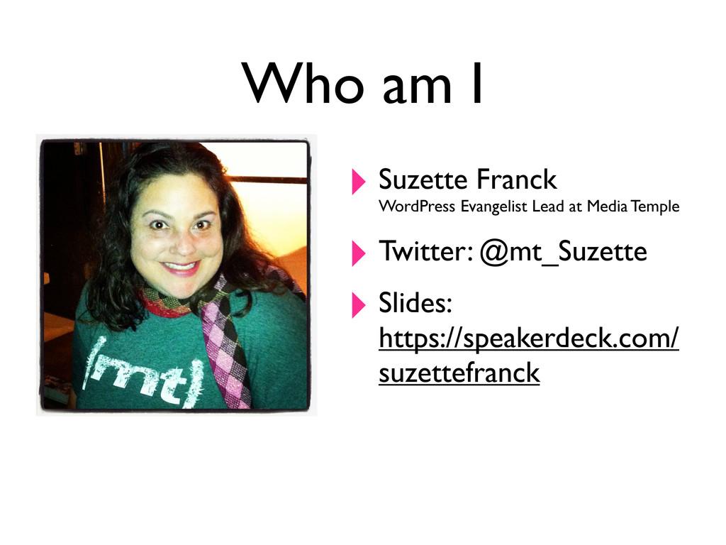 Who am I ‣ Suzette Franck WordPress Evangelist ...