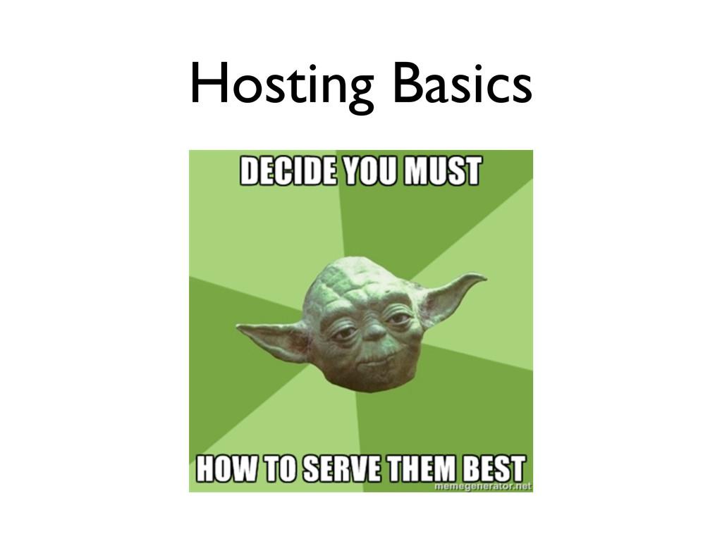 Hosting Basics