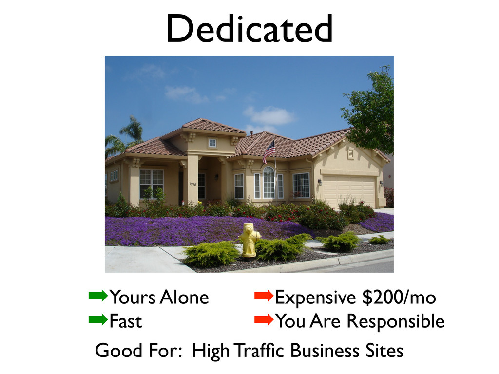 Dedicated Good For: High Traffic Business Sites ...