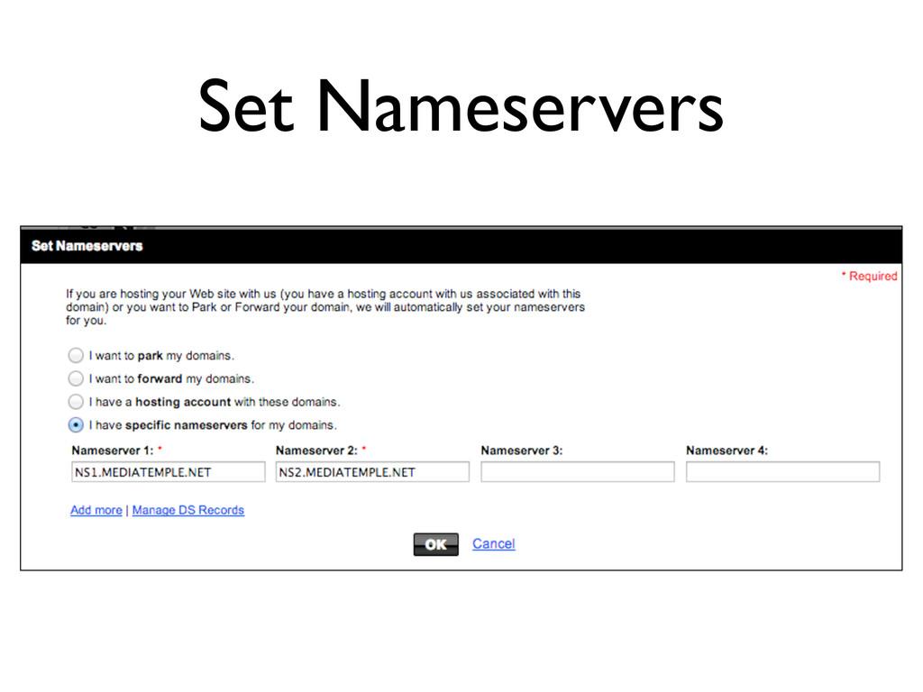 Set Nameservers