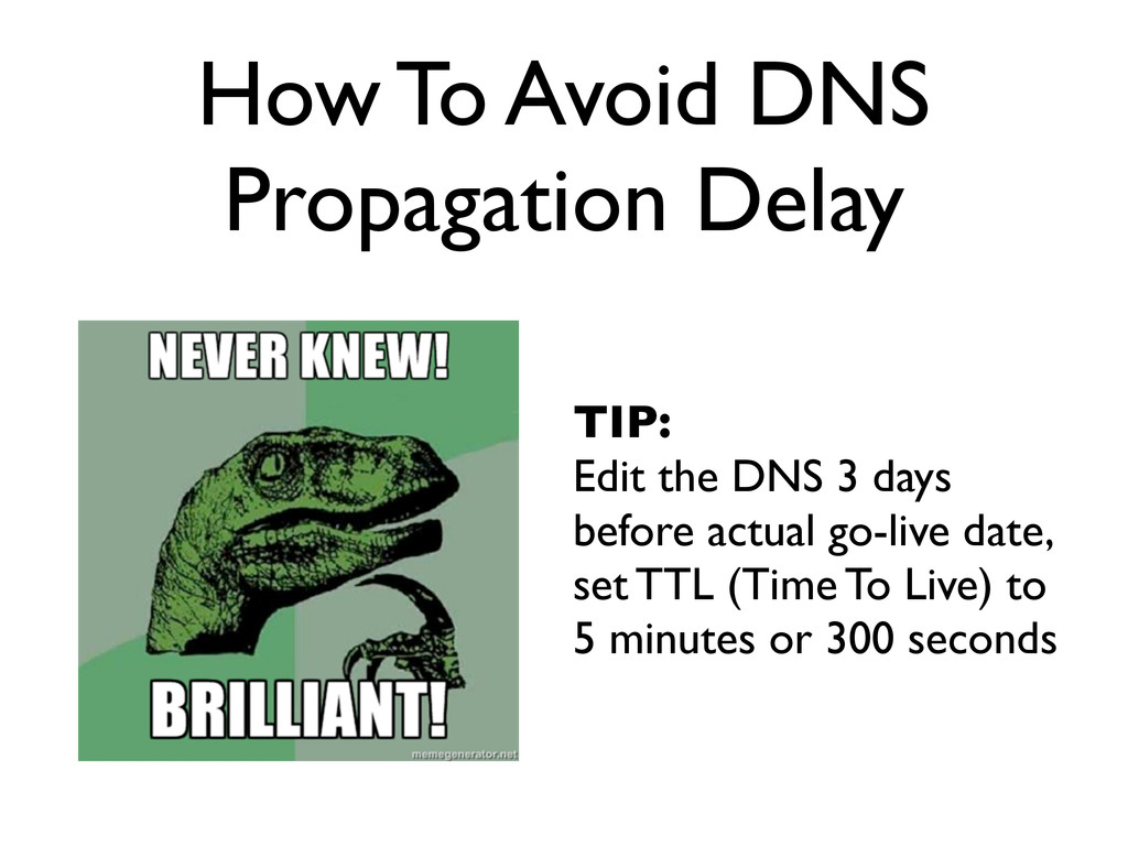How To Avoid DNS Propagation Delay TIP: Edit th...
