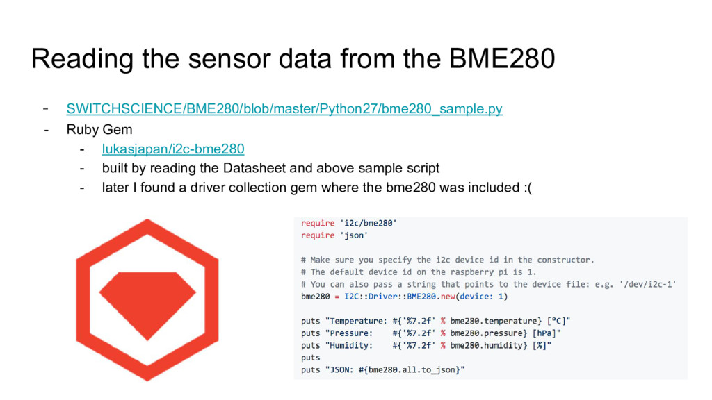 Reading the sensor data from the BME280 - SWITC...