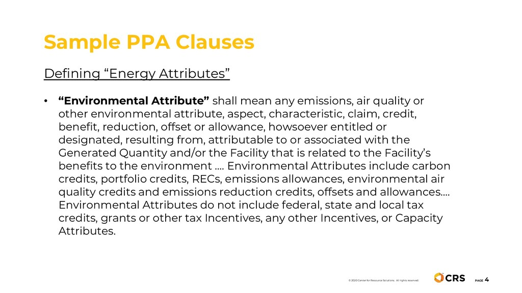 "Defining ""Energy Attributes"" • ""Environmental A..."