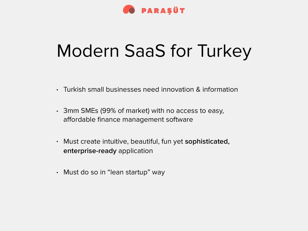 Modern SaaS for Turkey • Turkish small business...