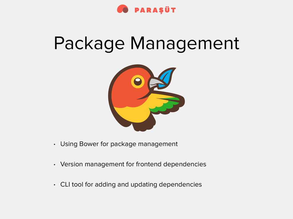 Package Management • Using Bower for package ma...