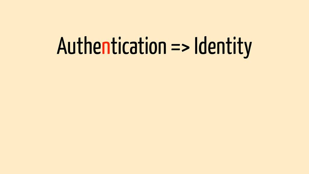 Authentication => Identity