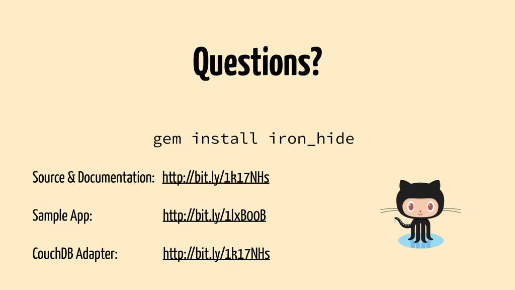 gem install iron_hide ! Source & Documentation:...