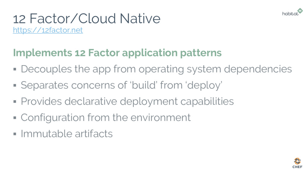 12 Factor/Cloud Native Implements 12 Factor app...