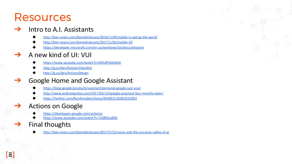 Resources ➔ Intro to A.I. Assistants ◆ http://b...
