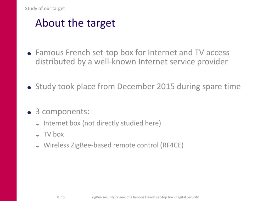 About the target Famous French set-top box for ...